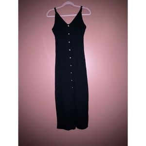 Long button down fitted dress